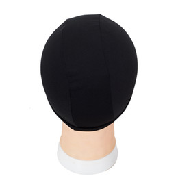 China 8pcs weaving caps spandex dome wig cap for making wigs black weave cap invisible hair net nylon stretch wig net cap cheap weaving cap for wig wholesale suppliers