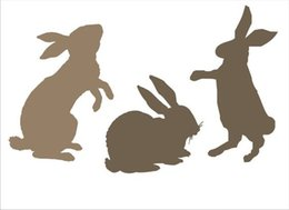 China DIY white airbrush stencils pattern design Masking template For Scrapbooking,cardmaking,painting,DIY cards,T-shirts-the rabbit 051 suppliers