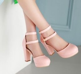 $enCountryForm.capitalKeyWord Canada - Wholesale New Arrival Hot Sale Specials Sweet Girl Sexy Noble Leather Nightclub Double Buckle Big Size Knight Party Heels Shoes EU34-43