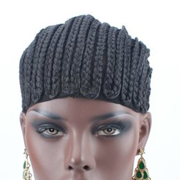 Glueless Wig Braids For Canada - Black Brand Braided Cornrow Wig Cap Easy To Sew In Glueless Hairnet for Wig Making braided wig cap 5Pcs