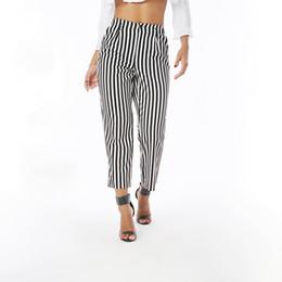 $enCountryForm.capitalKeyWord Canada - Beauty Garden Fashion Women Summer Autumn Striped Trousers Female Elegant Straight High Waist Wide Leg Loose Casual Capris Pants Trousers