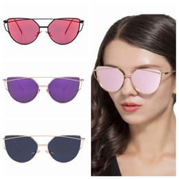 eafd741cb6 7 Colors Cat Eye Sunglasses Personality Sunglasses for Unisex Luxury Brand  Vogue Glasses European and American Eyewear CCA7751 50pcs