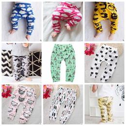Baby Cotton Winter Tights Pants Canada - Baby Clothing Ins PP Pants Toddler Ins Xmas Harem Pants Kids Cotton Fashion Pants Boys Lemon Leggings Girl Fox Tights Dinosaur Fruit B2298