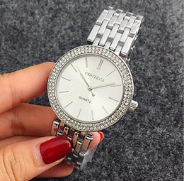 Crystal Diamond Fabrics Australia - Luxury Contena Diamond Watch Stainless Steel Crystal Wristwatches Fashion Strip Quartz Watches colors Free Shipping