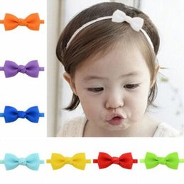 Baby Hair Thinning NZ - Children 's hair ribbon Ribbon with a thin stretch of hair with children' s headdress Europe and the United States baby hair band