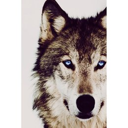 $enCountryForm.capitalKeyWord UK - Blue-eyed Wolf Pattern DIY Diamond Painting Embroidery 5D Cross Stitch Crystal Square Unfinish Home Bedroom Wall Art Decor Craft Gift