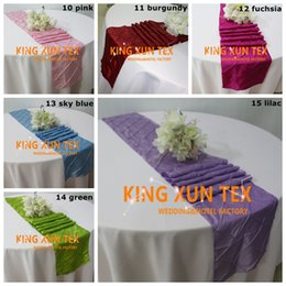wedding table cloths wholesale Australia - Hot Sale Taffeta Pintuck Table Runner Fit On Table Cloth For Wedding And Event Decoration Free Shipping