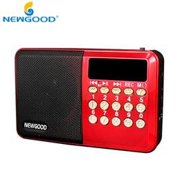 Mini Portable Speaker Sd Slot UK - Wholesale-Rechargeable portable Radio mini pocket digital FM radio with USB port TF micro SD card slot