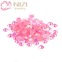Hotfix resin online shopping - mm And Mixed Sizes Pink AB Resin Rhinestones Non Hotfix Glitter For Nails Art Backpack DIY Design Decorations