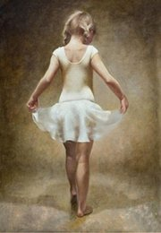 $enCountryForm.capitalKeyWord Canada - SMALL BALLET GIRL,Pure Handpainted Portrait Art Oil Painting On High Quality Canvas Free Shipping,customized size tiann