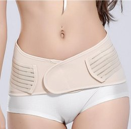 Maternity Support Bands Canada - 1PC Wholesale Postpartum Recovery Belly Waist Pelvis Belt Support Band Body Shaper Maternity Girdle Waist Trainer Corset Shapewear