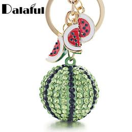 Star metal key ring online shopping - beijia Creative Green Watermelon Ball Pendant Key Chain Ring Metal Keychain keyring for Women Bag Car Keyfobs K340
