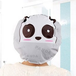 Symbol Of The Brand Women Ladies Clear Shampo Caps Cartoon Cute Bather Spar Shower Bath Caps Elastic Waterproof Bathing Bathroom Hats For Women Bath Beauty & Health Bath & Shower