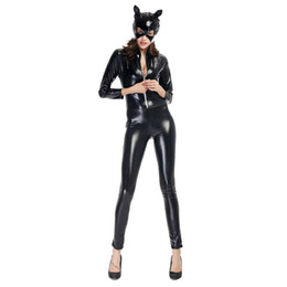 Discount female cat woman costume - Halloween Cosplay Costumes For Women Classic Character Cosplay Party Catsuit Hallowmas Costumes Rompers Animal Sexy Cat