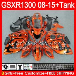 Gsxr fairinG red white online shopping - 8Gifts Colors For SUZUKI Hayabusa GSXR1300 HM14 Orange black GSX R1300 GSXR Fairing Kit