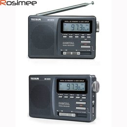 Sw Pack Australia - Wholesale-New Original Tecsun DR-920C Radio FM MW SW 12 Band Digital Clock Alarm Receiver & Backlight FM Portable Radio Recorder Y4139