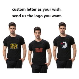 b53c5742a0a Solid TEE Letter Printed Mens Summer Tees Short Sleeve Custom Letter Cotton Men  T-shirt Plus Size S-4XL