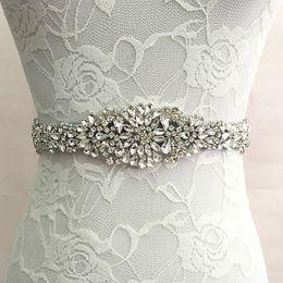 Großhandel Brautschärpe Hochzeit Prinzessin Strass Gürtel Mädchen Blume Brautjungfer Kleid Zubehör Multi Color Ribbon SW51