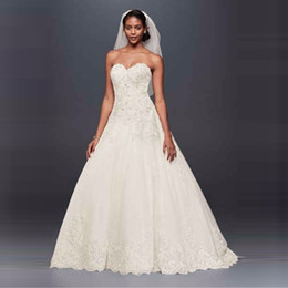 wedding dress sweetheart open Australia - NEW! Beaded Lace and Tulle A-Line Wedding Dress 2019 Sweetheart Appliques Beaded Brida Gowns Open Back Dresses V3836