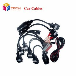 Cdp Pro For Cars NZ - Wholesale- 10pcs lot Lowest Price OBDII OBD2 Full Set 8 Car Cables Work For TCS CDP Pro Plus Car Cable Diagnostic Scan Tool Interface DHL