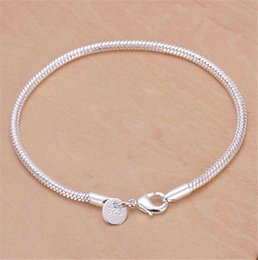 Easter gifts for girlfriend online easter gifts for girlfriend hot wholesale 3mm 925 sterling silver plated snake chains bracelet fit european beads for girlfriend boyfriend wife gift negle Images