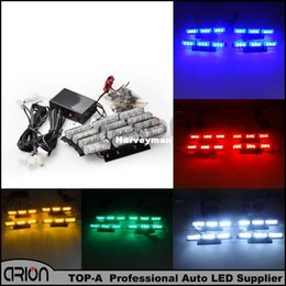 amber boat Canada - New 36 LED Blue Red White Amber Emergency Light Police Strobe Lamp Flashing Warning Windshield Boat Truck Car lightbar