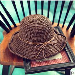 $enCountryForm.capitalKeyWord NZ - UK spring and autumn and winter visor cotton bow beach anti sun hat girl student summer camp Wrinkled hat