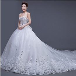 $enCountryForm.capitalKeyWord UK - Newest Style Princess Wedding Dresses Sweetheart Lace Extravagant Beaded Crystal Rhinestone Ball Gown Bridal Gowns Robe De Mariage W1619