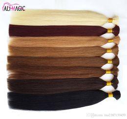 $enCountryForm.capitalKeyWord Canada - Cheap 2019 New Human Hair For Braiding Bulk Hair Factory Unprocesseds Hair Straight 20 22 24inch 100g Lot Wholesale Ali Magic Wholesale