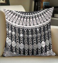 High quality wholesale factory direct custom glitz moroccan style on black  print double-sided pillow covers 16 inch 18inch 20inch