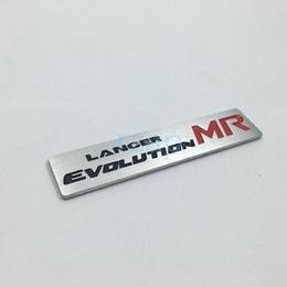 $enCountryForm.capitalKeyWord Canada - New Style Lancer Evolution MR 3D Metal Logo Car Rear Trunk Badge Emblem Sticker For Mitsubishi Lancer