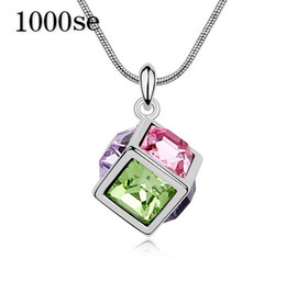korea necklaces Australia - 2017 new A genuine using SWAROVSKI Elements Crystal Necklace Necklace Pendant water cube -- South Korea boutique sale