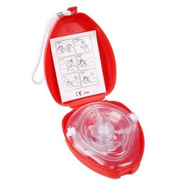 CPR Resuscitator Mask Rescue First Aid Masks Breath One Way Valve Health Tools Бесплатная доставка WA2613