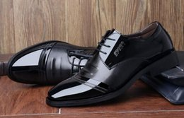 Leather Shoes Sale NZ - Hot Sale New Men Oxfords Shoes PU Leather For Men Dress Flats Shoes 2018 Fashion Wedding Shoes size: EU38-44
