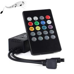 Discount ac music - LED RGB Music IR Controller DC12-24V 20 Key Sound Sensor Wireless Remote Controller For RGB LED Strip