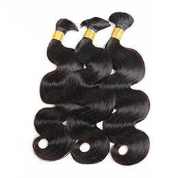 24 Inch Human Weft Braiding Hair UK - Unprocessed Brazilian Virgin Hair Body Wave Human Hair Bulk No Weft Human Hair For Braiding 100g Per Bundle