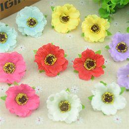 $enCountryForm.capitalKeyWord Canada - 30pcs lot 4Cm Mini Silk Cherry Blossoms Small Artificial Rose Flowers Heads Poppy Wreath Wedding Decoration For Scrapbooking