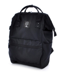 $enCountryForm.capitalKeyWord NZ - LIMITED Fashion anello Japan Mens Womens Backpack Waterproof School travel Laptop Plain Bag Handbags Black Polyester Original