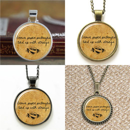 $enCountryForm.capitalKeyWord NZ - 10pcs Brown Paper Packages Tied Up With Strings Christmas Jewelry Glass Photo Necklace keyring bookmark cufflink earring bracelet