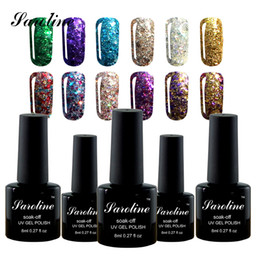 Glitter red Gel polishes online shopping - Saroline Diamond Glitter UV Nail Gel Permanente Vernis a Ongle Nail Gel Faster Primer ML Fast Delivery cheap