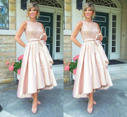 High Pictures NZ - New High Low Blush Mother Of The Bride Dresses 2017 Jewel Beading A Line Satin Beach Mother Dress Evening Party Gowns Cheap Custom