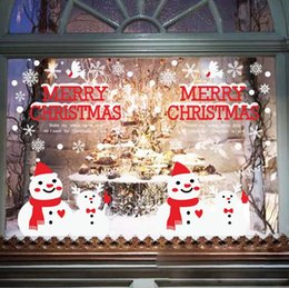 $enCountryForm.capitalKeyWord Canada - Christmas Decorations Snowman Wall Stickers Window Decals for New Year Festival Indoor Decor Santa Claus Christmas Stickers Free Shipping