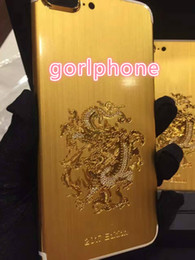 house plates Australia - Hot selling stylish real gold black matt dragon cover for iphone 7 housing back panel dragon gold plated back housing for iPhone 7