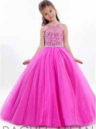 $enCountryForm.capitalKeyWord Canada - New Princess Flower Girls Dress Pageant Dance Formal Birthday Gown Size 6 8 10 12 Red crystal sequins skirt