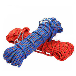 10M corde d'escalade professionnelle de corde en plein air accessoires de randonnée 10mm diamètre 3KN corde de sécurité de corde de haute résistance