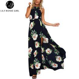 d1da49a4f589 Wholesale- Off Shoulder Boho White Floral Print Maxi Long Dress Women  Hollow Out O Neck Autumn Sexy Party Girls Dresses Beach Vestidos