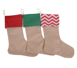 Sack coat online shopping - 12 inch New high quality canvas Christmas stocking children candy sacks gift bags Xmas stocking Christmas decorative socks bags