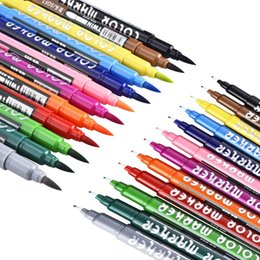 Twins arT online shopping - Superior Colors Artist Brush Sketch Markers Water Based Ink Twin Tip Marker Pen for Drawing Manga School Supplies