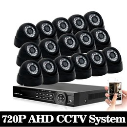 $enCountryForm.capitalKeyWord UK - 720P AHD Camera Kit 1080p CCTV System 16CH AHD DVR Recorder + 1.0MP IR 30M indoor Security AHD Bullet Camera System Support P2P