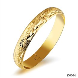 Costume braCelets for women online shopping - Gold Women Open ended Cuff Bangle Masquerade Party Costume Jewelry K Gold Plated Copper Wristband Bracelet Gifts for Bride